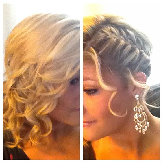 Side curls, The other side and French braids on Pinterest