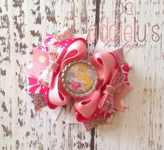 Aurora Inspired Boutique Bow  Hair Accessories  by AddieLuBowtique, $9.50