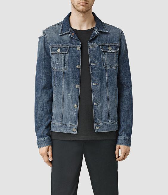 ALLSAINTS UK: Mens Jaypee Denim Jacket (LIGHT INDIGO BLUE)   mens ...