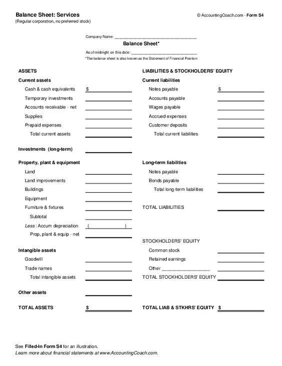 balance sheet services Yoga Business Pinterest Balance sheet - balance sheet
