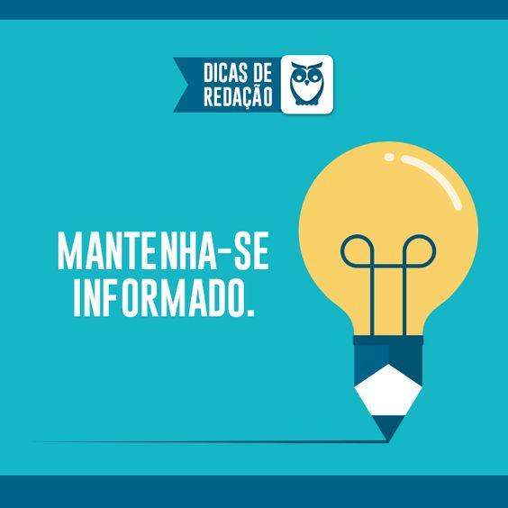 É importante consumir notícias diariamente, para um texto rico em informação. #estude #concursos #dicas #redacao #escreva #leia #infomacao #aprovacao