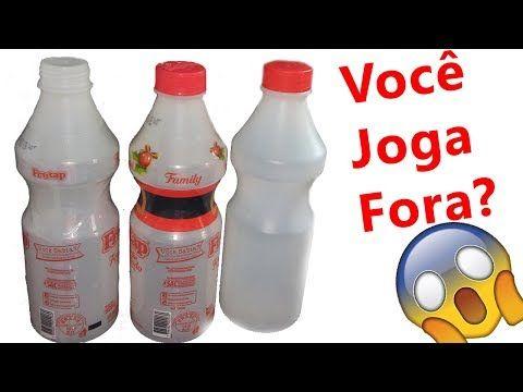 Ideias Com Garrafa De Leite Plastic Bottle Craft Ideias Faceis