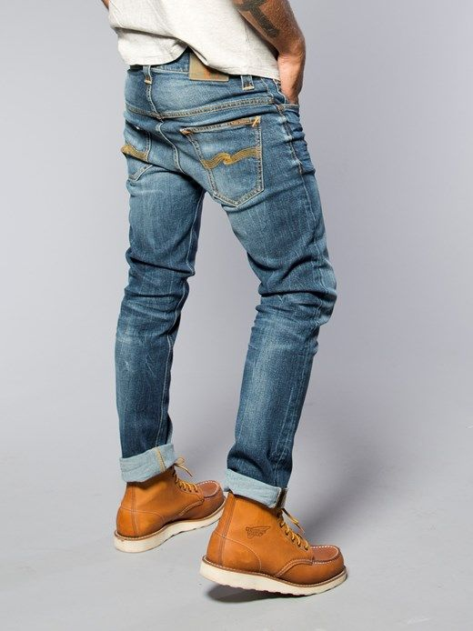 Thin Finn Organic Midnight Worn - Nudie Jeans Co Online Shop