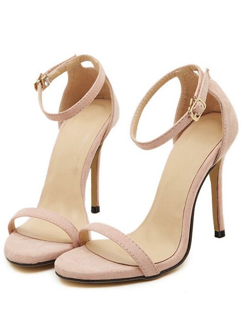 Nude Stiletto High Heel Ankle Strap Sandals | Shoes | Pinterest