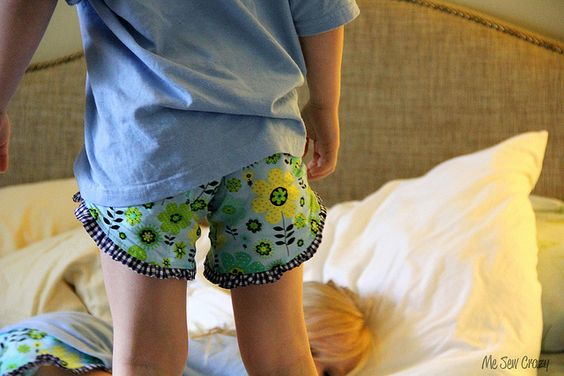 Ruffled Boxers #diy #tutorial for any level of #sewing experience -- great for gift-giving and using up smaller amounts of fabric!