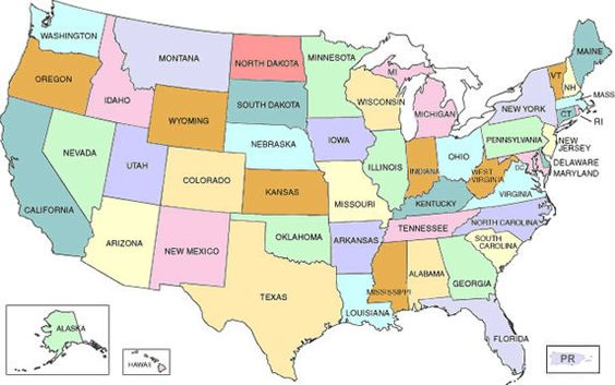Maps Map Of Usa Showing States Blog With Collection Of Maps All - Usa map nebraska