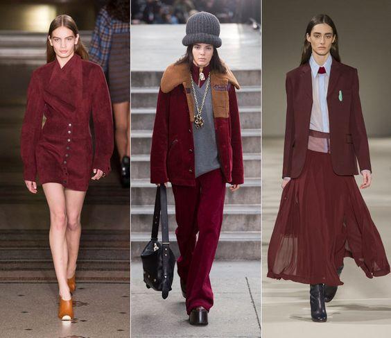 Mode couleur bordeaux