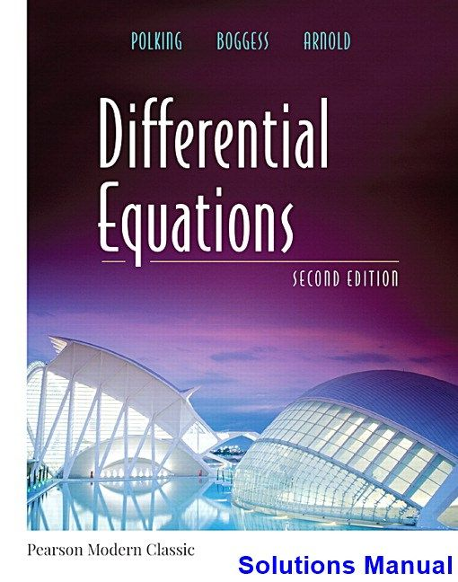 Differential Equations 2nd Edition Polking Solutions Manual