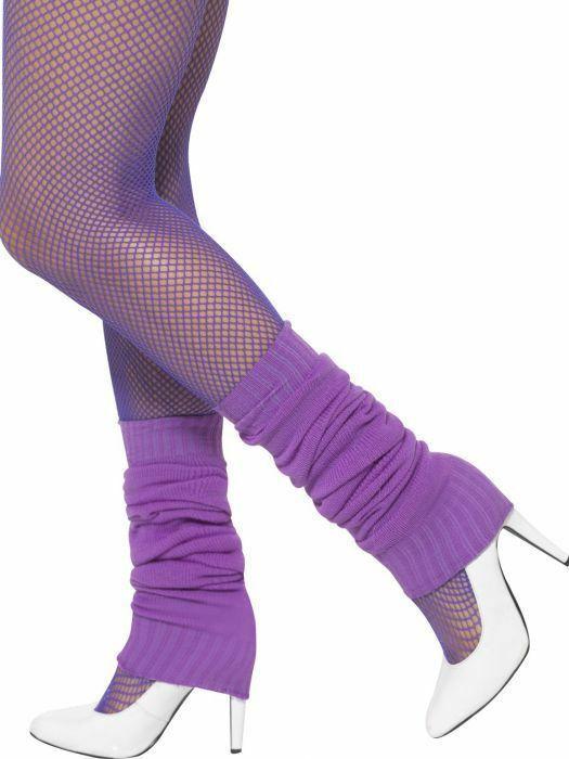 Adult Fishnet Tights Ladies Neon 1980s Hosiery Fancy Dress Accessory 80s Workout