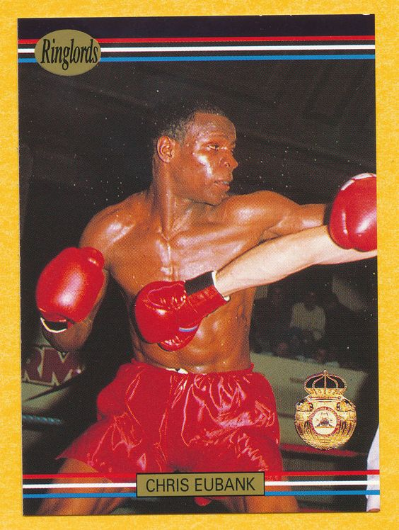 Chris Eubank boxer boxing 1991 Ringlords trading card #26