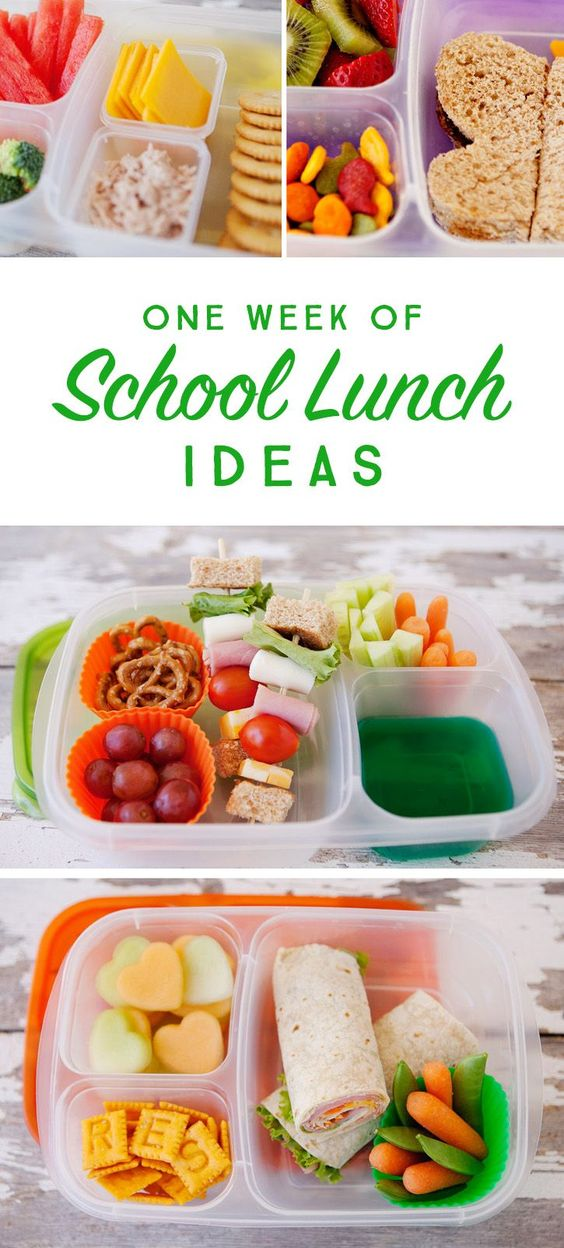 A weeks worth of simple, healthy school lunch ideas that go beyond the typical PB&J!