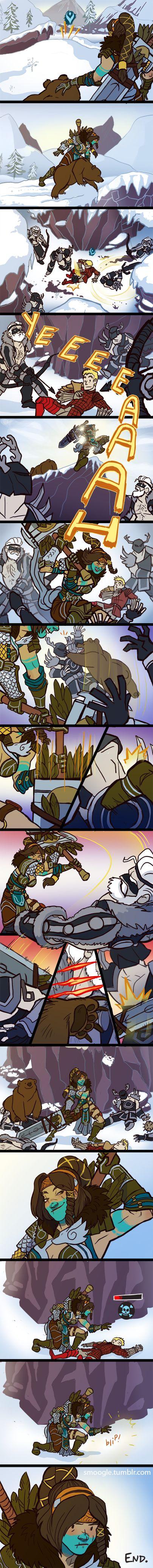 Playing Hero Comic, jajajaja me encanta xdd