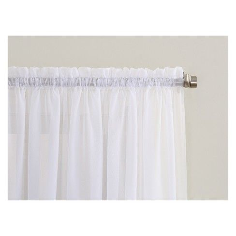 No 918 Emily Sheer Voile Rod Pocket Curtain Panel Rod Pocket