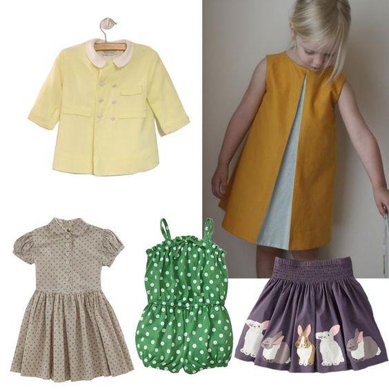 Ropa para niñas: estilo vintage