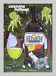 Absente Absinthe Refined art- Homage a Botero- by John Pacovsky