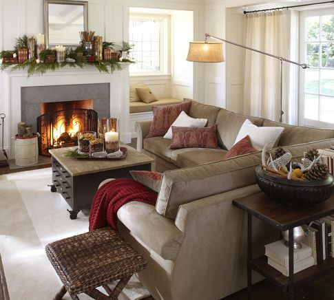 Fireplaces Floor Lamps And Pottery On Pinterest