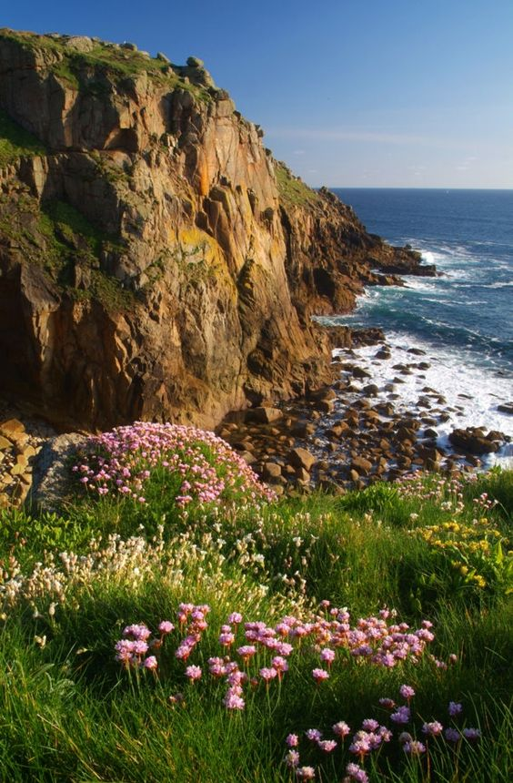 Land's End, Cornwall, UK the most westerly point of mainland GB