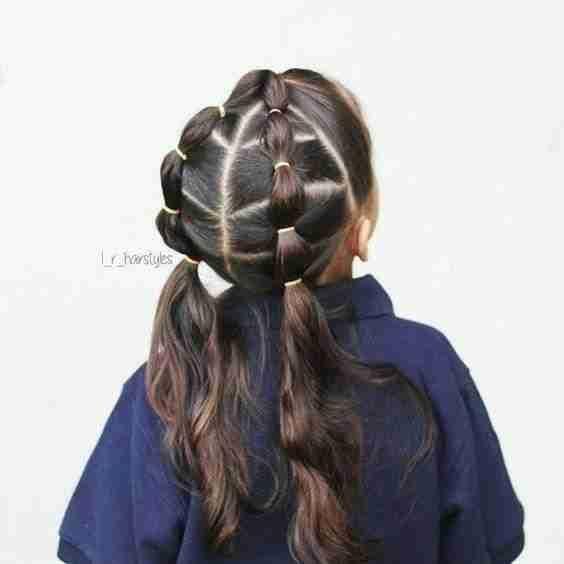 تسريحات شعر اطفال للمدارس زاكي Lil Girl Hairstyles Girl Hair Dos Girls Hairstyles Braids