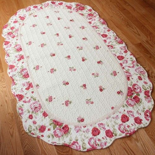 red rose quilt mat rugs red roses and shabby chic rug. Black Bedroom Furniture Sets. Home Design Ideas