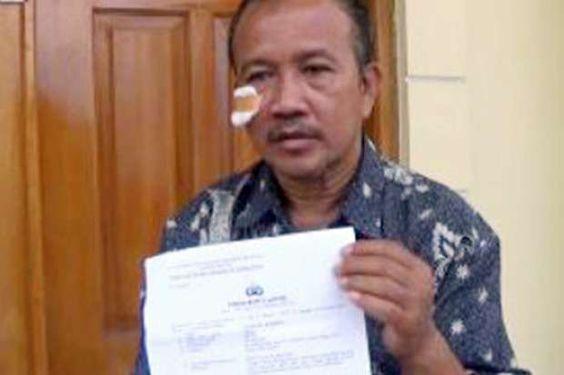 Diduga Menganiaya Warga Mantan Bupati Dilaporkan ke Polda