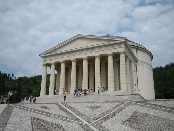 Possagno: Canova's Temple -  Italy. Can be seen from the window where my mom was born!!!