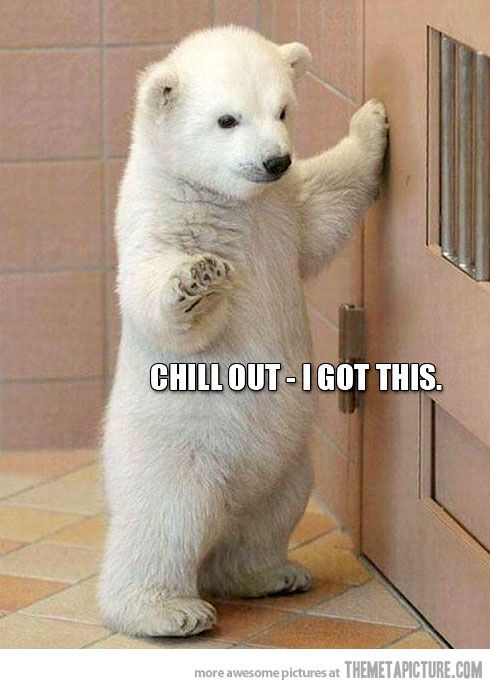 Just chill out…