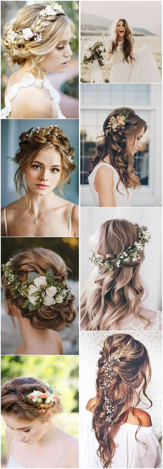 Wedding Hairstyles    » 21 Inspiring Boho Bridal Hairstyles Ideas to Steal