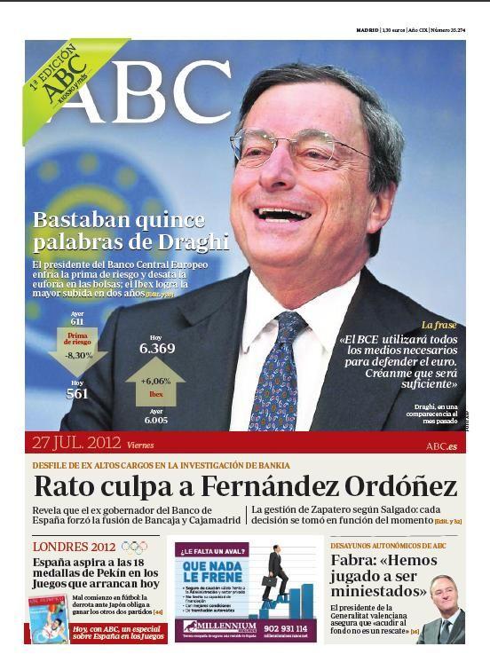 La portada de ABC del 27 de julio