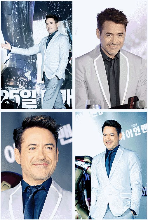 Robert Downey Jr @ Press Conference for Iron Man 3, in South Korea.