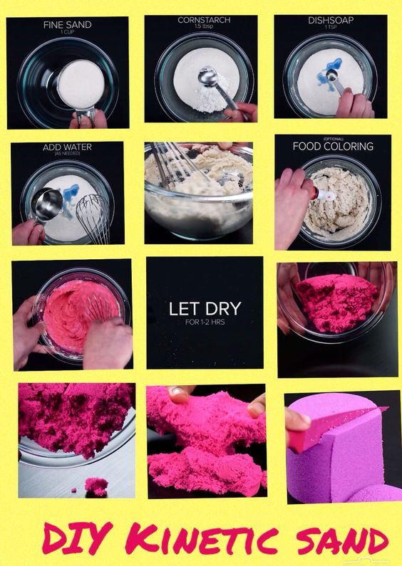 diy kinetic sand so cool clara ideas pinterest. Black Bedroom Furniture Sets. Home Design Ideas