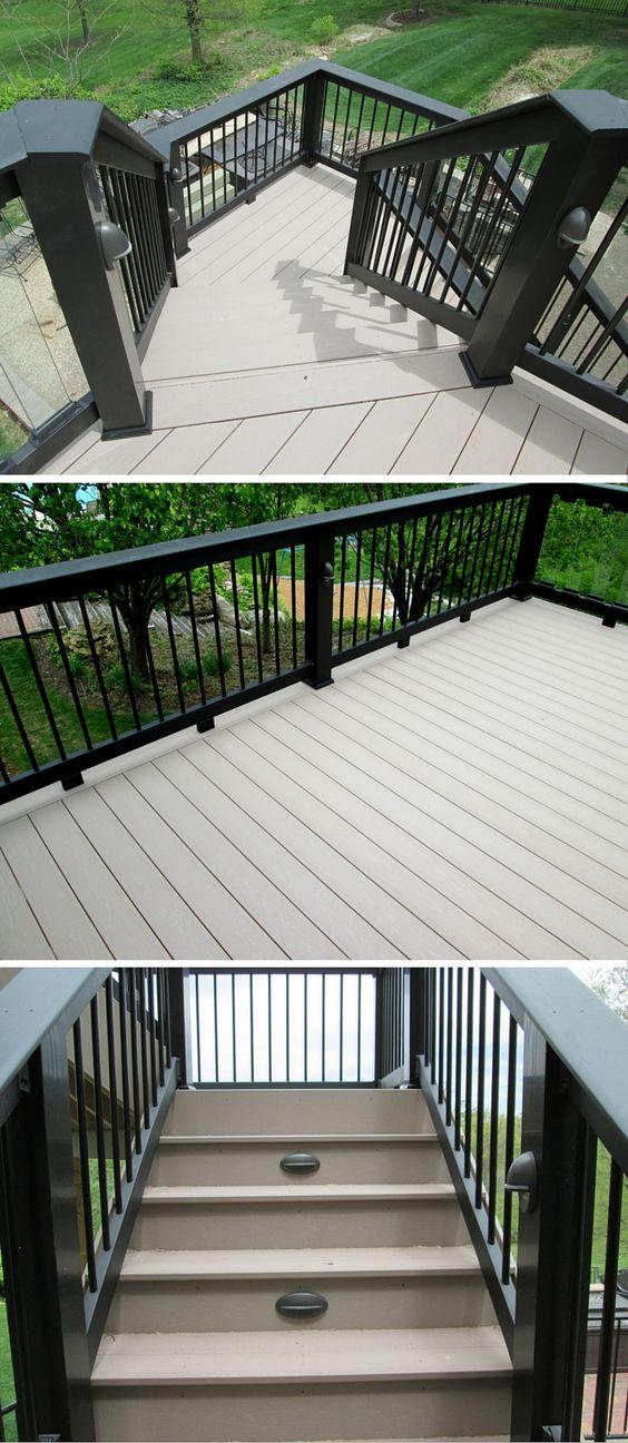 dark lattice deck skirt - pair with hog wire mesh deck rail panels ...