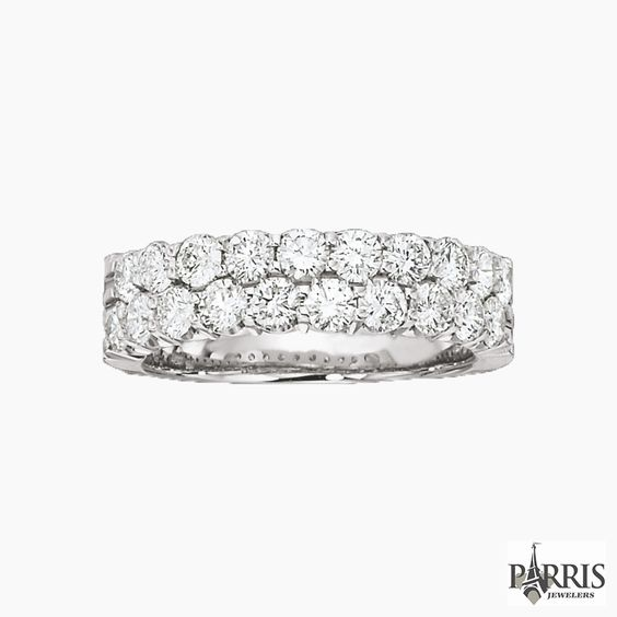 These bands will complete your ring to the fullest. Match them up and have a wonderful looking combination of both ring and band from Parris Jewelers.