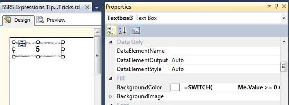 SQL Server Reporting Services Expressions Tips and Tricks
