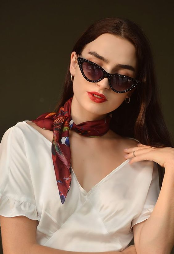 Silk Scarf/ Square Neck Scarf/ Women Silk Scarf/ Gift for Her   Etsy
