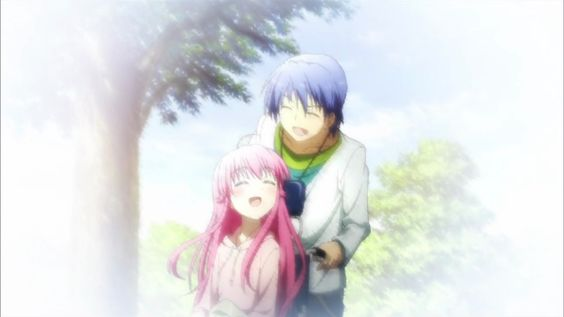 #anime angel beats. Hinata & yui (best couple ever...!!)