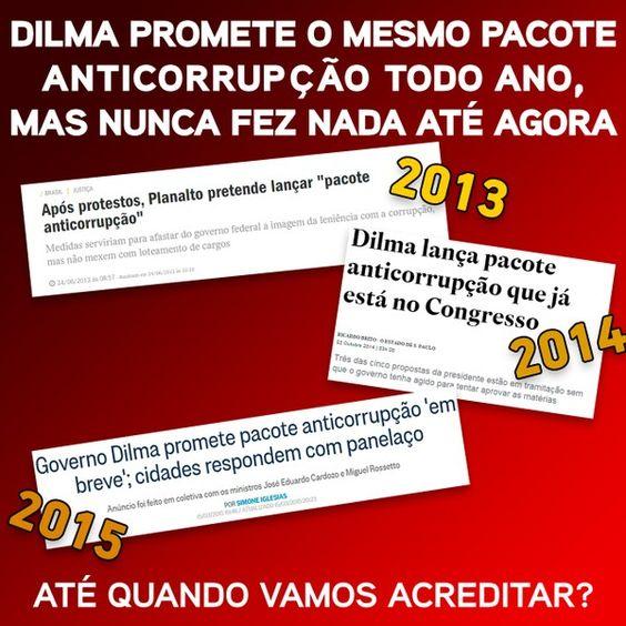 #ForaPT não queremos pacotes de vcs q são a própria corrupção!