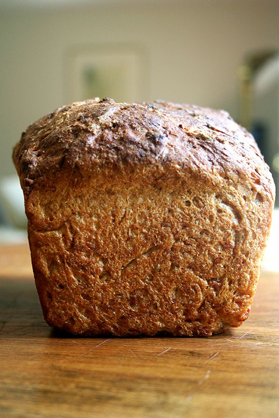 no knead oatmeal toasting bread -- recipe and photograph from alexandra's kitchen