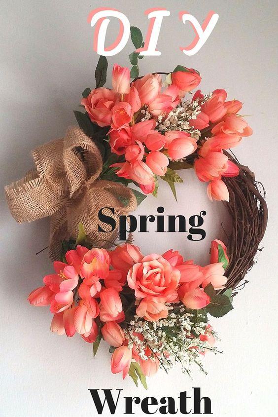 Spring Wreath DIY!! Super easy to make.