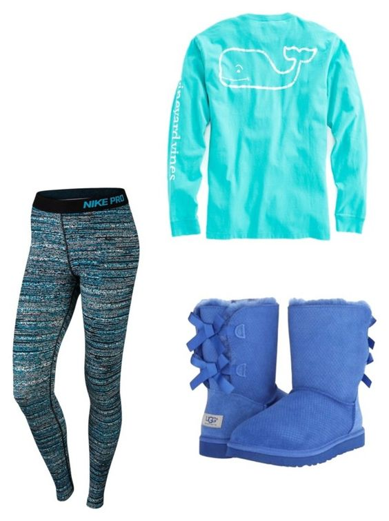 """Sick Day"" by gracez353 ❤ liked on Polyvore featuring NIKE, Vineyard Vines and UGG Australia"