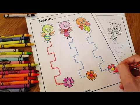 Bee Tracing Activity Free Coloring Pages For Kids Youtube Improve Fine Motor Ski Preschool Fine Motor Skills Preschool Coloring Pages Motor Skills Preschool