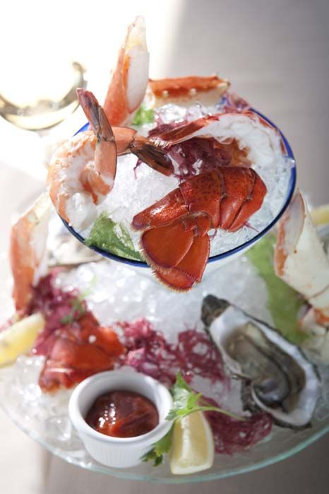 ... King Crab, Selected Oysters, classic cocktail sauce, herb aioli