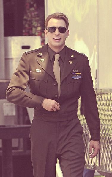Captain America.  Love men in uniform.  https://www.facebook.com/SEXYEYECANDIES: