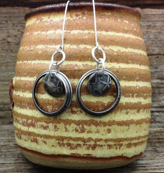 Texas Quarter Earrings *This is a one-of-a-kind show piece. Come check us out at Westfest!*