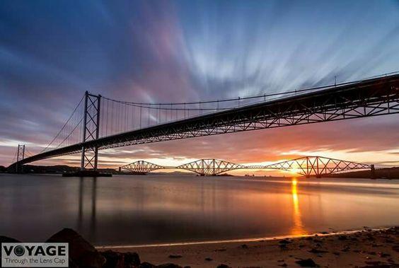 Forth bridge at sunrise