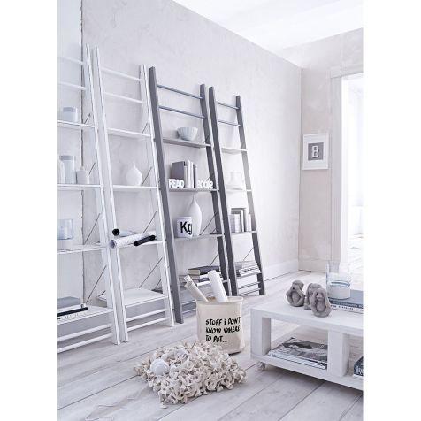 Leiterregal, 4 Böden und 4 Sprossen, einklappbare Böden, Tannenholz Katalogbild