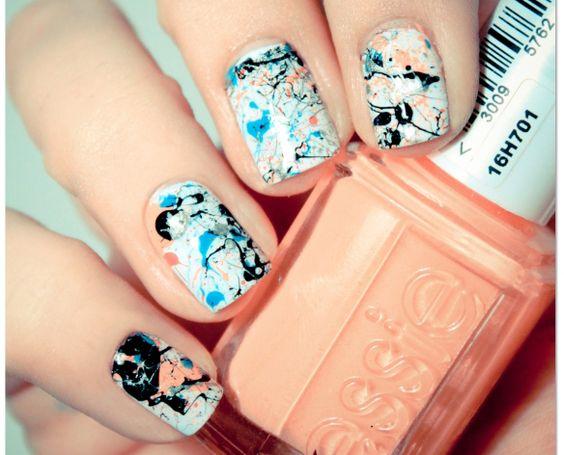 Lovely Nail Art: Splash!