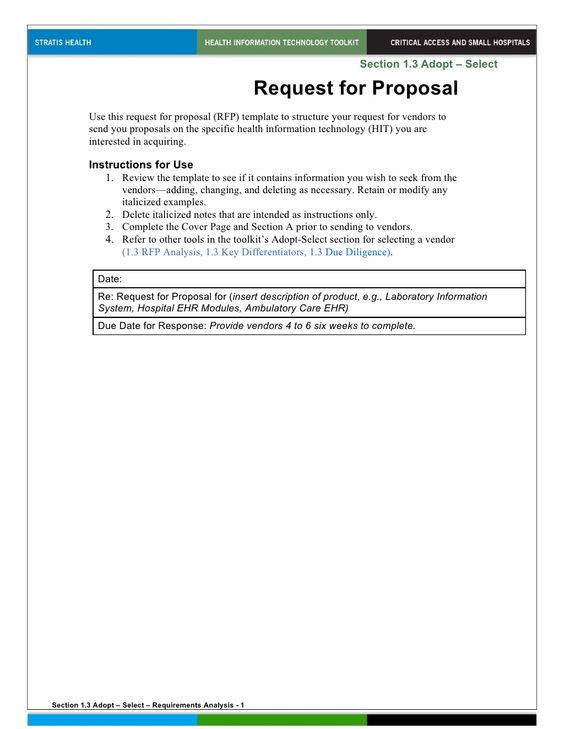 Request For Proposal By Mike Via Slideshare  Rfi