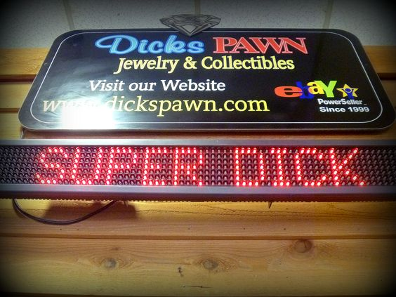 Dick's Pawn Shop Sign