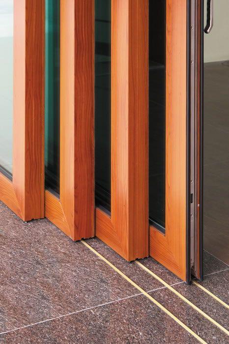 Agua prueba bajo umbral blanco aluminio corredizas puertas - Puertas de vidrio correderas ...