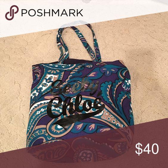 See By Chloe Linen beach bag Printed linen See by Chloe Bags Shoulder Bags
